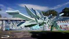 3d digital Graffiti - drift by Graffiti Technica, via Flickr