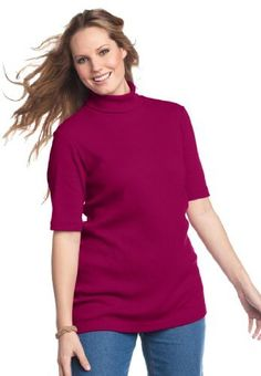 Woman Within Plus Size Ribbed turtleneck: http://www.amazon.com/Woman-Within-Plus-Ribbed-turtleneck/dp/B004I7D3QE/?tag=dirtyboy404-20