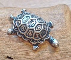 Vtg-Sterling-Silver-1-Miniature-Small-Crawling-Turtle