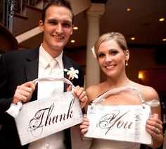 Wedding Chair Signs...Mr. and Mrs. or Bride and Groom. Elegant Vintage Ivory and Brown signs. Can be done with Just Married or Thank You    $10 for Mr & Mrs on the other side