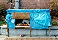 Photographers Ulrike Myrzik & Manfred Jarisch documented Japanese homeless shelters for an exhibition entitled Architecture of Homelessness 2003