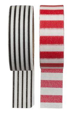 Washi tapes in alle kleuren en patroontjes, gewoon bij HEMA.