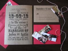 Rustic, DIYed, Le Temps du Sucre-inspired invitations suites | Offbeat Bride