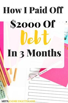 How To Pay Down Debt Quickly and Save Money - Arts and Budgets - Finance tips, saving money, budgeting planner Ways To Save Money, Money Tips, Money Saving Tips, How To Make Money, Managing Money, Money Savers, Paying Off Student Loans, Paying Off Credit Cards, Budgeting Finances