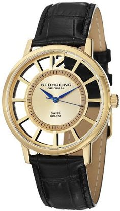 40204d0df75 Stuhrling Original Men's 388S.333531 Classic Winchester Swiss Quartz  Gold-Tone Watch Set Stuhrling