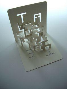 type - space - volume exploration by Elod Beregszaszi