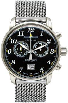 Zeppelin Watch Zeppelin  #zeppelincz #meetyBRAND #bezel-fixed #bracelet-strap-steel #brand-zeppelin #case-depth-11mm #case-material-steel #case-width-42mm #chronograph-yes #classic #date-yes #delivery-timescale-call-us #dial-colour-black #gender-mens #movement-quartz-battery #official-stockist-for-zeppelin-watches #packaging-zeppelin-watch-packaging #style-dress #subcat-count-zeppelin #supplier-model-no-7686m-2 #warranty-zeppelin-official-2-year-guarantee #water-resistant-50m