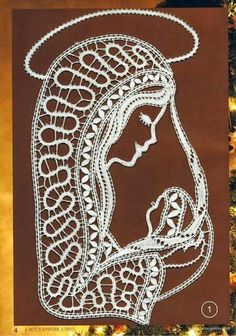 Filet Crochet, Irish Crochet, Crochet Lace, Madonna, Paper Cutting Patterns, Romanian Lace, Lace Art, Bobbin Lace Patterns, Parchment Craft