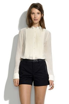 Madewell Leather Trim Shorts, $124.50, available at Madewell.
