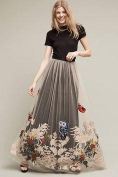 Varun Bahl Hidden Forest Maxi Skirt