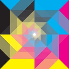 CMYK Triangles  Art Print