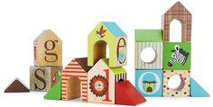 Skip Hop Alphabet Zoo ABC House Blocks (Discontinued by Manufacturer) Wooden Abc Blocks, Alphabet Blocks, Blocks For Toddlers, Alphabet Nursery, Animal Alphabet, Wooden Playset, Block Painting, Kid Essentials, Charming House