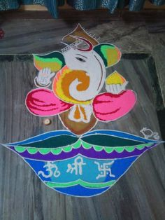20 Best Ganesha Rangoli Designs for Diwali Diwali is less than a week away and its high time to finalize what kind of rangoli you are going to make this Rangoli Colours, Rangoli Patterns, Rangoli Designs Diwali, Diwali Rangoli, Diwali Celebration, Festival Celebration, Beautiful Mehndi Design, Beautiful Rangoli Designs, Diwali And Holi