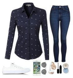 """""""Untitled"""" by clairebear89 ❤ liked on Polyvore featuring LE3NO, Topshop, Converse, Ray-Ban, Beats by Dr. Dre and Marc Jacobs"""