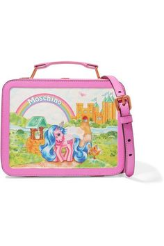 ace7a6f41c9b7 Moschino - My Little Pony Lunchbox Printed Leather Shoulder Bag - Colorless