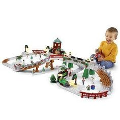 Fisher Price V2027 GeoTrax Christmas Train Christmas in Toytown Train | eBay