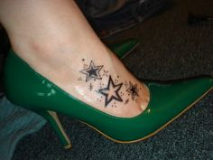 ankle tattoos for women | Outstanding Star Foot Tattoo Design | lolpark.com