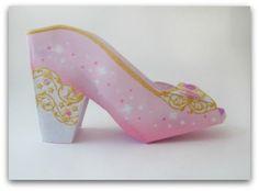 Free printable princess shoe party favor from hp.com via Whimsy dreams