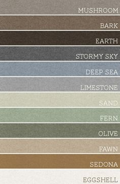 Take any set of 3 of these colors and each room would be amazing. A palette for the whole house by ernestine