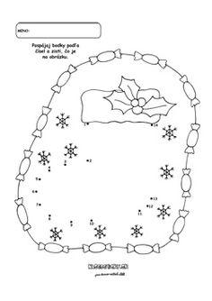 Spájanie bodiek. Vianočná čižma. - Aktivity pre deti, pracovné listy, online testy a iné