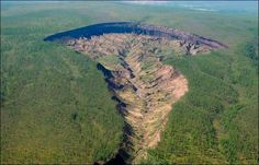 """MessageToEagle.com –Located in Siberia, the Batagaika Crater is known as the """"Gateway to the Underworld"""" by local people…"""