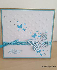 Cassie's Papierkram: Karte zum Abschied einer lieben Kollegin