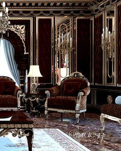Luxury House Interior Design Tips And Inspiration Palace Interior, Luxury Homes Interior, Luxury Home Decor, Interior Exterior, Interior Architecture, Black Interior Design, Classic Interior, Dark Interiors, Luxury Living