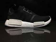 e301cf54b High Quality Mens Adidas NMD R1 PK PrimeKnit Monochrome Black White BA8629  For Sale