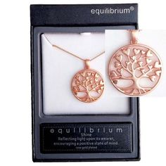 Equilibrium Tree of Life Necklace – Rose Gold Matte