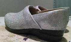 Handpainted and Glittered Dansko Clogs  Preowned  by GlittyCity, $90.00