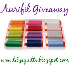 Get ready, get set, and GO enter another #Aurifil giveaway hosted by Lilys Quilts! This fantastic 50wt collection is Full Circle Stitching from Victoria Findlay Wolfe Quilts!   To read all the details and enter for your chance to win visit http://lilysquilts.blogspot.com/2015/06/giveaway-mondays-aurifil.html
