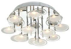 """At Lamps Plus in Dallas (Alexander's room maybe) - Possini Discs of Light 17 3/4"""" Wide Flushmount Ceiling Light -"""