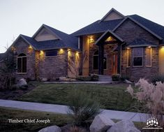 Another beautiful custom home featuring our @gsharrisco Chief Joseph (Color: Timber) that looks amazing!  ----- www.KodiakMountain.com  ----- #KodiakMountainStone    #HomeBuilding #HomeBuilder #HomeBuilders #CustomHomes #Luxury #LuxuryHome Chief Joseph, Home Builders, Custom Homes, Luxury Homes, Building A House, Mountain, Cabin, Mansions, Stone