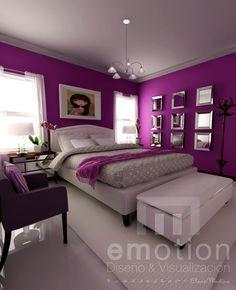 purple 2 Bedroom Decor, Girl Bedroom Designs, Bedroom Colors, Paint Colors For Living Room, Purple Bedroom Design, Bedroom Cupboard Designs, Bedroom Design, Bedroom Wall Colors, Bedroom Deco