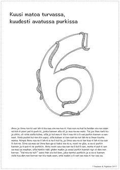 Numero 6, tarina ja värityskuva