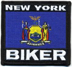 "Embroidered Iron On Patch - New York State Biker 3.5"" Flag Iron On patches http://www.amazon.com/dp/B00EGGOG36/ref=cm_sw_r_pi_dp_M8-Ztb0AD32EK9GB"
