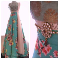 'Mumtaz' - turquoise brocade floral lengha available now at www.holichicbymegha.com Email: info@holichicbymegha.com