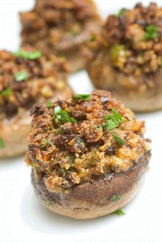 Sugar & Spice by Celeste: Sausage-Stuffed Mushrooms