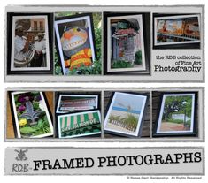 A few framed photographs from New Orleans, Biloxi & Gulf Shores by Renee Dent Blankenship