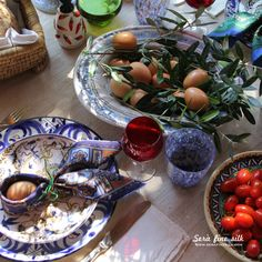 At Home Italian Easter by Francesca Easter Food, Easter Bunny, Easter Table Settings, Table Set Up, Italian Recipes, Seaside, Weather, Houses, Times