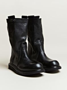 Rick Owens Men's Pull On Biker Boots | LN-CC