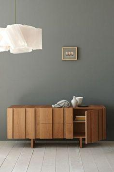 mattiert wandfarbe grau skandinavisch wohnen sideboard designer