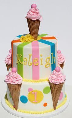 Ice cream cake idea! @kimmersicecream delish!