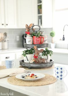 How to Style a Tiered Tray via House by Hoff