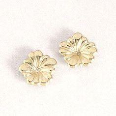 14KY Gold Small Flower Earring Jacket. 7/16 of a Inch In Diameter. Gold and Diamond Source. $55.00