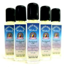Sacred Scent Perfumed Oil Wicked - The Hippie House Best Perfume, Perfume Oils, Easential Oils, Hippie House, Plum Flowers, Perfume Making, Purple Haze, Pure Essential Oils, Coconut Cream