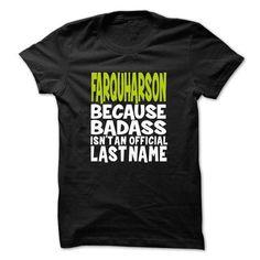 (BadAss001) FARQUHARSON - #tshirt #tshirt upcycle. BEST BUY => https://www.sunfrog.com/Names/BadAss001-FARQUHARSON-xoeriyxncv.html?68278