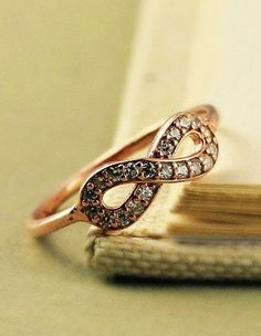 Pave infinity ring
