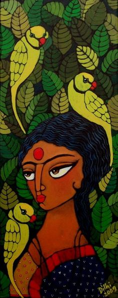Indian Artwork, Indian Folk Art, Indian Art Paintings, Indian Artist, Madhubani Art, Madhubani Painting, Indian Contemporary Art, Modern Art, Sketch Painting