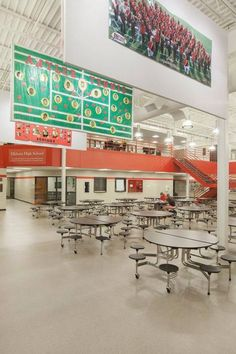 DLR Omaha designed a beautiful addition to Elkhorn High School. #DLRomaha #omahanebraska #elkhornhighschool #school